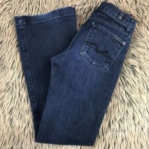 7 For All Mankind Mid Rise Charlize Flare Jeans 25